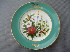 COLLECTORS MERRY CHRISTMAS 1978 CANDLE DESIGN PLATE   in Collectables, Decorative Ornaments/Plates, Collector Plates | eBay!