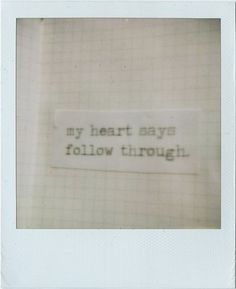 My heart..