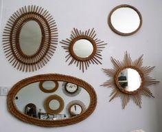 mur miroirs annees 50