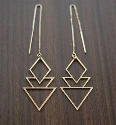 On SALE SALE Geometric Art Deco Earrings Gold Filled by friedasophie on Etsy https://www.etsy.com/listing/192991999/on-sale-sale-geometric-art-deco-earrings
