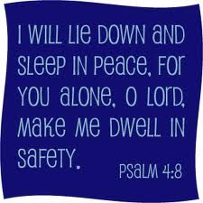 Psalm 4:8 - memorize with kids, remind them of this verse when they are afraid at night.