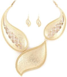 Fashion Necklace Set - Gold via Thorpe's Emporium. Click on the image to see more!