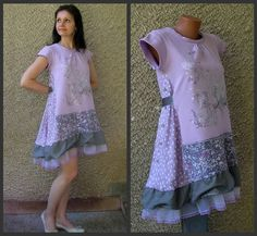 Eco Dress Romantic Fairy Dress Upcycled Clothing by by EcoClo