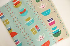 Pyrex inspired fabric by Melody Miller for Ruby Star Sparle