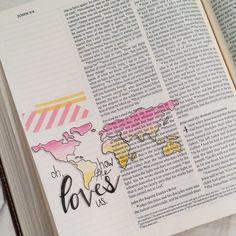 """""""How He loves us! #john316 #illustratedfaith #biblejournaling #biblejournalingcommunity #journalingbible #journalingbiblecommunity"""""""
