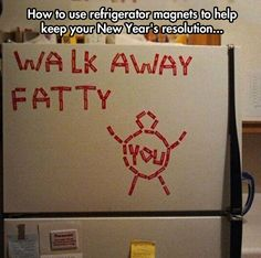 My refrigerator can be really mean sometimes…