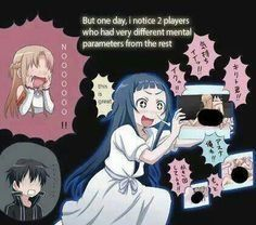 LOL OMG well she was watching every one even asuna and kirito during there ordeal <---- Oh geez so true XD Schwertkunst Online, Online Anime, Yui Sword Art Online, Tous Les Anime, Sword Art Online Wallpaper, Otaku, Kawaii Anime, Anime Characters, Manga Anime