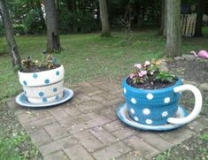 Tea Cup Tire Planter Easy DIY With Video   The WHOot