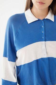 66ce12189e8 Slide View  3  UO Carson Long Sleeve Polo Shirt Polo Shirt Outfits