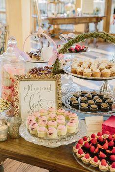 Amazing Wedding Dessert Table   photography by http://mattedgeweddings.com