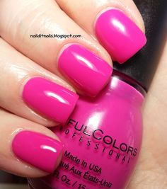 -This color rocks! A classy fuchsia. I seriously love this brand far better than all my expensive nail polish. Diy Nails Color, Love Nails, Pretty Nails, Nail Colors, Essie Gel Polish, Uv Gel Nails, Nail Polishes, Sinful Colors Nail Polish, Different Nail Designs