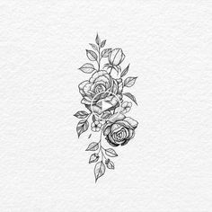 Tattoos And Body Art floral tattoo designs Simple Flower Tattoo, Rose Flower Tattoos, Flower Tattoo Arm, Arm Tattoo, Tattoo Roses, Tattoo Simple, Samoan Tattoo, Polynesian Tattoos, Small Tattoo