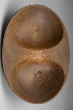 Carl-Axel Acking; Elm Double Bowl, 1940s.