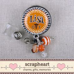 OT Name Badge Personalized Badge Reel by ScrapheartGifts on Etsy