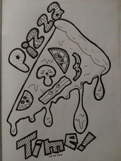 Pizza Time Doodle