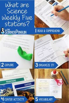 Science Weekly Five Stations are fun, quick, and effective for students!