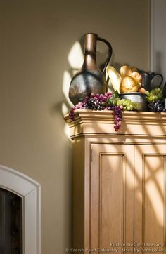 Kitchen Cabinets Decorations On Top Of Kitchens Traditional Light Wood