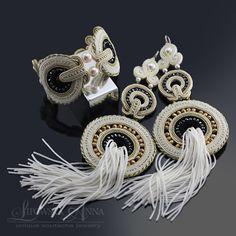 605 Anna Lipowska LiAnna Biżuteria sutasz   soutache  www.lianna.blox.pl elegancka bridal wedding Soutache Earrings, Anna, Jewels, Handmade, Wedding, Jewellery, Fashion, Hobbies, Do Crafts