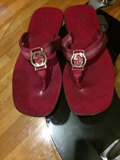 Gucci Interlocking Heart Sandals Black 36 5 Patent Leather