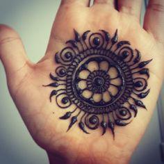 Sun Henna Design