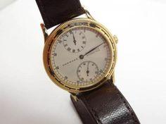 Estate-Found-Swiss-Garrard-21J-Gold-GP-Stainless-Steel-Skeleton-Mans-Wristwatch