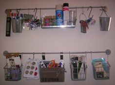 Scrapbooking organization idea for small places