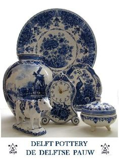 Delft Pottery blue