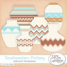 Southwestern Pottery Templates by Kim Cameron cudigitals.com cu commercial template scrap scrapbook digital graphics Cameron #digitalscrapbooking #photoshop #digiscrap #scrapbooking