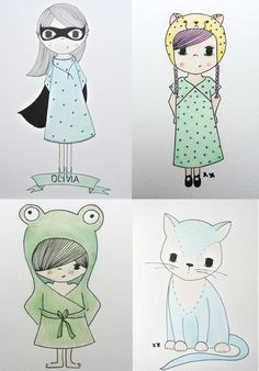 handmade illustraties by me: interesse? haskesommers@gmail.com: A4: 24 euro, verschillende maten en wensen mogelijk!