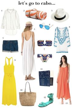 Lets go to Cabo: Only a month away Beach Vacation Outfits, Vacation Style, Summer Outfits, Cruise Vacation, Mexico Vacation, Vacation Packing, Travel Style, Summer Wear, Spring Summer Fashion