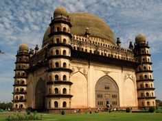 Gol Gumbaz at Bijapur, Karnataka, the second largest Dome in the world South India Tourism, Gol Gumbaz, Famous Monuments, Beautiful Stories, Famous Places, Karnataka, Beautiful Buildings, India Travel, Incredible India