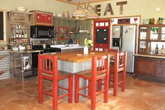 After: Rustic Kitchen