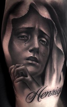Holy Tattoos, Forarm Tattoos, Catholic Tattoos, Religious Tattoos, Jesus Tattoo Sleeve, Sleeve Tattoos, Angel Tattoo Designs, Flower Tattoo Designs, Saint Tattoo