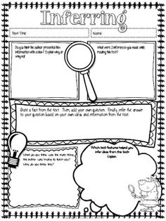 Comprehension Strategy Posters for Nonfiction or Informative Texts - 9 journal page for the different comprehension strategies.  Aligns with Common Core for Informative Texts $