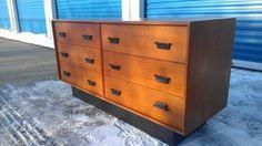 Toronto: vintage teak 6 drawer dresser with leather handles only $199 $199 - http://furnishlyst.com/listings/57250
