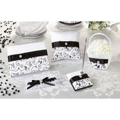 Vijfdelige bruidsset Black and White