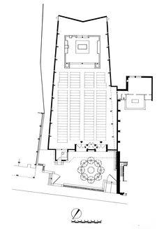 MBM. Iglesia del Redentor. 1957-1968 planta How To Plan, Architecture, Spanish Architecture, Store, Wood, Blue Prints, Arquitetura, Architecture Design