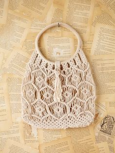 Sweet Vintage Macrame Handbag by Free People