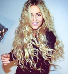 blonde long curls