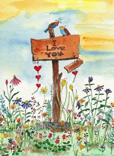 """Love Signs""  by Mary Jo Oxrieder  Raven Rocks Studio"