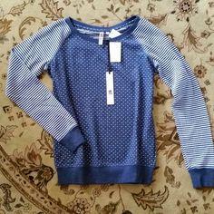 Kut from the Kloth Prescott Dot & Stripe Raglan Knit Shirt