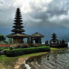 The Ulun Danu Temple. #bali #island #temple #indonesia #visit #vacation #tourist…