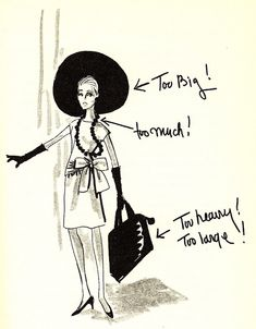 """Edith even wrote a book on it: """"How to Dress for Success"""" by Edith Head, and here's one of her illustrations. #ModCloth #styleicon"""