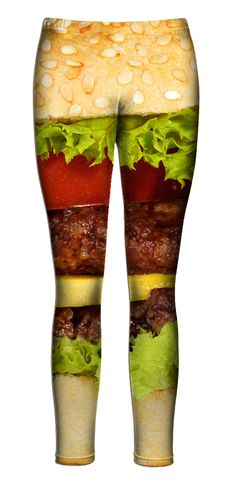 Burger Leggings. Hey Anne, you want these for Christmas? ;>
