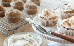 Frosted Spiced Cupcakes....gluten free, egg free and dairy free!