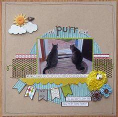 Cute layout with cute kitties.