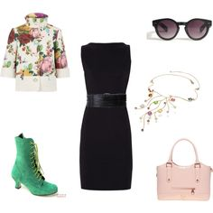 LBD for office (Delicate style) by irenabar on Polyvore featuring Diane Von Furstenberg, Ted Baker, Forzieri, Linea Pelle, personal style and lbd