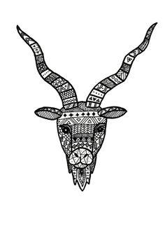 Zodiac zentangle Capricorn