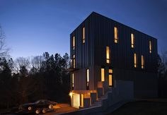North Carolina residence belonging to a musician and his son. Raleigh-based firm Tonic. Two-bedroom, two-and-a-half-bath house at about $200 per square foot.