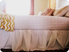 5 dollar bed skirt tutorial. Easiest bed skirt EVER!
